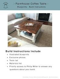 square farmhouse coffee table diy squre