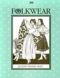 Folkwear Patterns Interesting Folkwear 48 Quilted Prairie Skirt Folkwear Patterns Vogue Fabrics