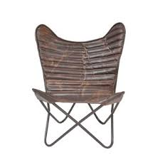 armless leather chairs. Sidney Cocoa Ribbed Wing Leather Chair Armless Chairs
