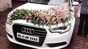 Wedding Car Decorate Wedding Car Decoration With Flowers Youtube