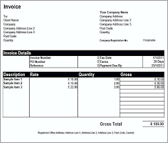 Basic Invoice Template Microsoft Word Basic Invoice Template Word