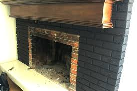 black brick fireplace black paint was perfect for this old outdated fireplace makeover black brick fireplace black brick fireplace