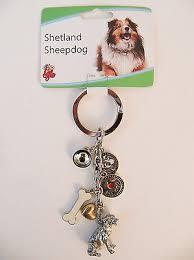 new little gifts shetland sheepdog pet dog key chain charms