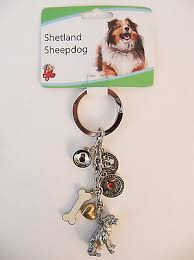 new little gifts shetland sheepdog pet dog key chain charms