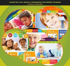 Kids School Website Template Colorful Day Care Nursery Kindergarten Kids Website