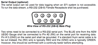 how to logging wideband afr via serial connection (aem uego Rs 232 Connector Wiring.php report this image RS232 Pin Layout