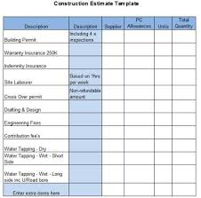 8 Best Free Construction Estimate Templates
