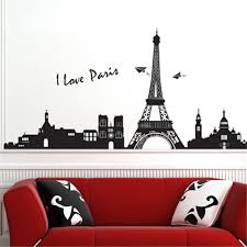 diy wall sticker eiffel tower wall stickers for home decoration