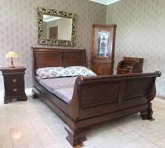 mahogany wood king size bedroom set venessa collection