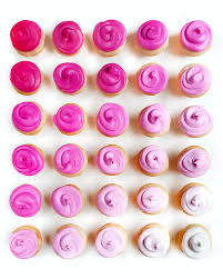 11x14 Pink Frosting Cupcakes Gradient Print Matte Paper Rolled