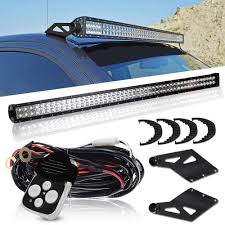 Dodge Ram Led Light Bar Roof Mount Dot 50inch Led Light Bar Combo Driving Offroad Lamps Upper Roof Windshield Mount Bracket 1 Lead Wiring Harness Remote Control Kits For 2003 2009