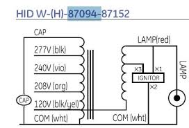 how to hook up a 240v hid ballast have no wiring diagram here is a wiring diagram that i made up for you
