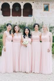 Light Pink Bridesmaid Dresses Long Brides Bridesmaids Photos Light Pink Long Bridesmaid