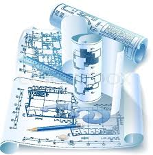 architectural engineering blueprints. Architectural Background With Drawing Tools And Rolls Of Drawings. Vector Clip-art | Stock Colourbox Engineering Blueprints
