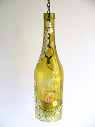 Hand painting wine bottle candle holder ...