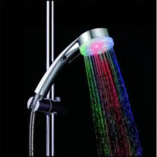 water glow 7 colors changing led light shower heads multicolor multicolor fast flashing type