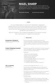 Entrepreneur Resume Samples VisualCV Resume Samples Database Magnificent Entrepreneur Resume
