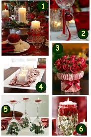 red christmas table decorations. Beautiful Christmas Dining Room Decor With Various Banquet Table Decoration : Elegant Image Of Red Decorations