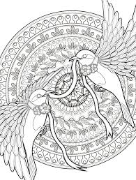 Adult Coloring Pages With Birds Free Downloadable Web Drago Wolf