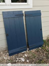 how to make diy board and batten shutters finished shutters ready to hang