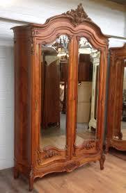 vintage antique furniture wardrobe walnut armoire. Antique French Walnut Armoire With Carved Doors Vintage Furniture Wardrobe