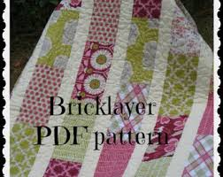 Etsy :: Your place to buy and sell all things handmade & PATTERN Brick Layer Lap Quilt ...easy, uses fat quarters or layer cake Adamdwight.com