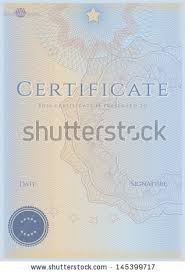 Blue Blank Certificate Completion Template Sample Stock Illustration ...