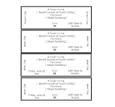 Benefit Ticket Template Benefit Ticket Template Barbecue Ticket Template Free