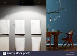 modern lighting concepts. Modern Galery On Grey Wall Lighting Concepts Table In Background M