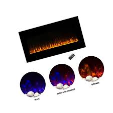 details about northwest electric fireplace wall mounted led fire and ice flame with remote