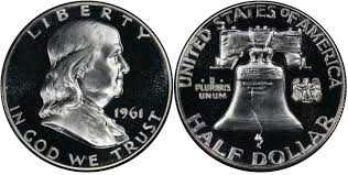 1961 Half Dollar Value Chart 1961 50c Doubled Die Reverse Proof Franklin Half Dollar
