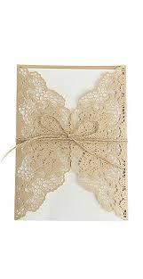 cici store 10Pcs Hollow Lace Wedding Invitation ... - Amazon.com