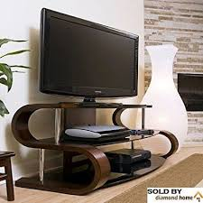 60 quot modern curvy tv stand this s