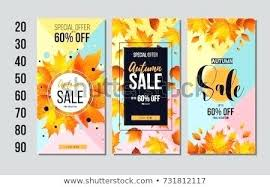 Free For Sale Flyer Template Sale Flyer Templates Set Of Autumn Sale Flyer Template With