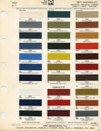 1955 Chevy Truck Color Chart Chevy Engine Paint Colors