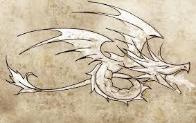 Skica O Tetování Drak Kresba Stock Fotografie Outsiderzone 9745466