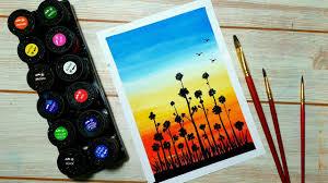 Vẽ tranh phhong cảnh đơn giản với màu nước Thiên Long và giấy A4 cứng thông  thường. | Tổng hợp những bức tranh đẹp nhất - #1 trang kiến thức học tập