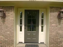 Black Exterior Doors Front Door With Two Side Windows Entry 1