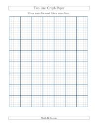 Graph Papper Two Line Graph Paper With 2 5 Cm Major Lines And 0 5 Cm