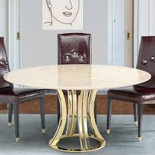 aroma tivoli gold round marble dining table