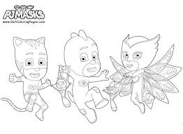 Pj Masks Coloring Pages Super Heroes Get Coloring Pages Pj Mask