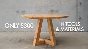 round dining table build with only 300 in toolaterials
