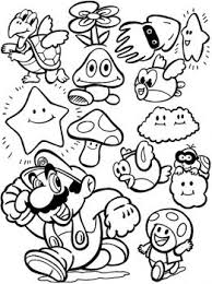 Video Game Coloring Pages Mario Game Coloring Page Super