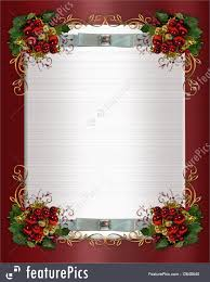 templates christmas or winter wedding border stock illustration image and illustration composition for christmas card party invitation template border or frame holly leaves berries or nts on red and white