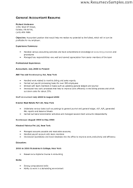 Accounting Resume Skills - Resume Example