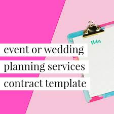 Event Planning Services Agreement 038 Wedding Coordinator Contract Agreement Event Planning