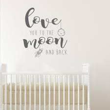 love you to the moon and back wall sticker on love you to the moon and back wall art uk with love you to the moon and back wall sticker wallboss wall stickers