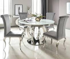 used glass dining table incredible great serge living riviera white round glass dining table and 4