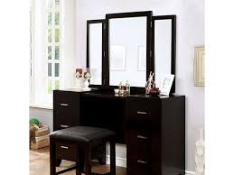 Beautiful Furniture Of America Vanity W/Stool, Espresso CM7088V PK