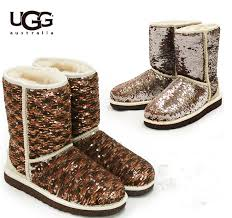 UGG Fox Fur Short Boots 5685 Black